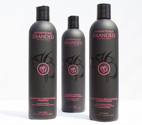 Fortifying & Replenishing Shampoo, Conditioner & Rockin' Strong Conditioning Mask